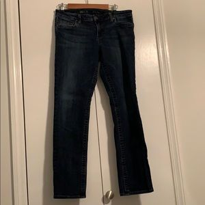 Dark wash straight leg jeans size 12